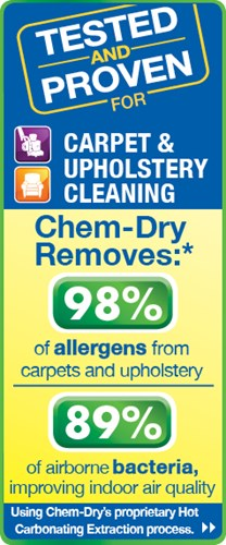 Chem-Dry's proprietary cleaning process creates a healthier home